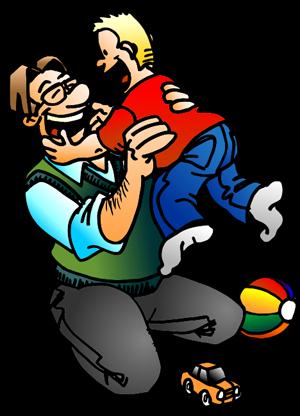 Illustrasjon far og sønn