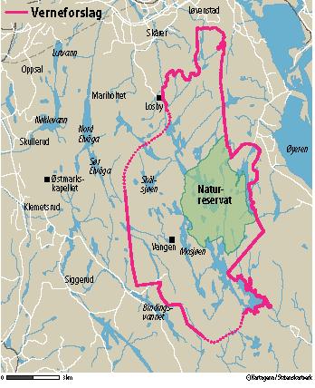kart østmarka Miljøvernministeren: Vil ha nasjonalpark i Østmarka   Østmarkas Venner kart østmarka