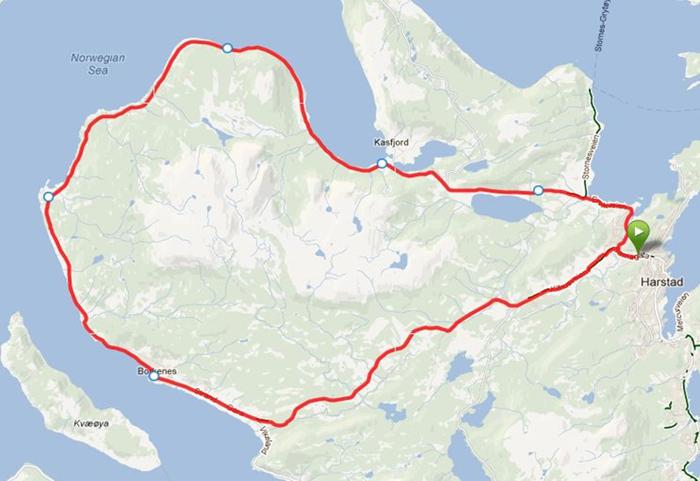 Sykkel-løyke på kart