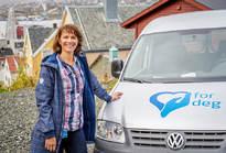 Spesialsykepleier Birgitte Forsaa Åbotsvik hos Nordøya hjemmetjeneste.