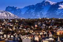Sentrum sett fra Tromsdalen