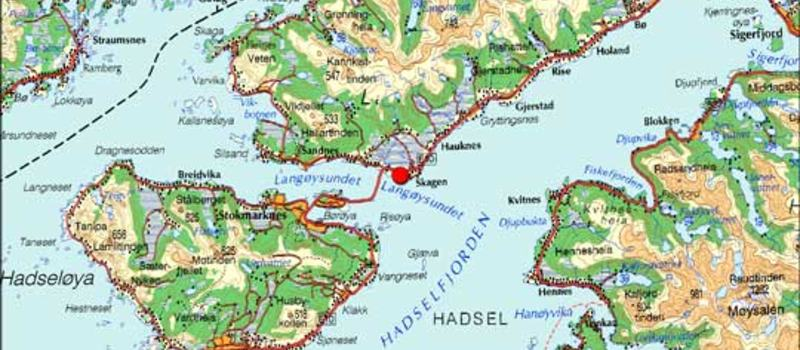 Kart over kommunen