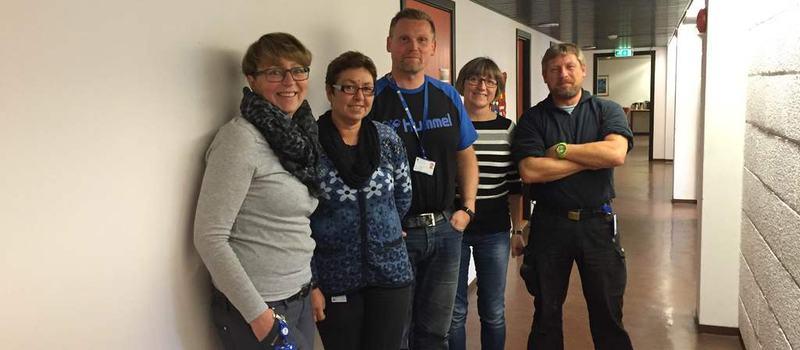 Bilde av ansatte på tjenestekontoret