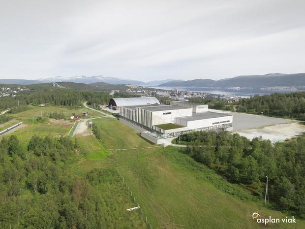Tromsøbadet sett fra sør.