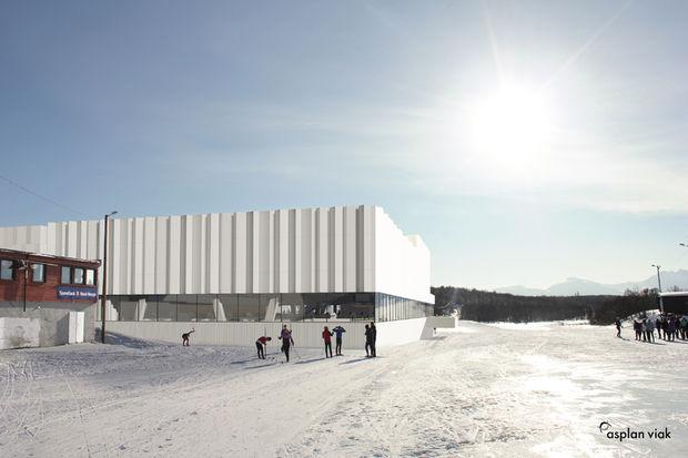 Tromsøbadet sett fra nord (oppdatert illustrasjon etter siste endringer)