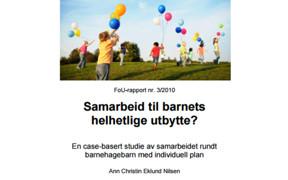 Bilde av omslaget til rapporten Samarbeid til barnets helhetlige utbytte?