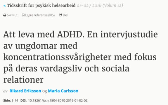 Skjermdump av svensk nettside