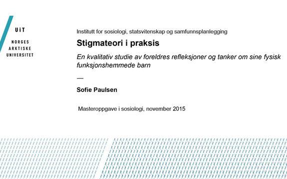Ingressbilde til artikkel om Masteroppgaven Stigmateori i praksis
