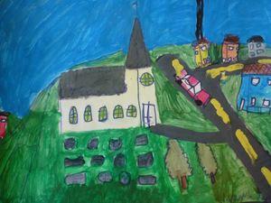 Areal og kystsonedelen illustrasjonsbilde maleri