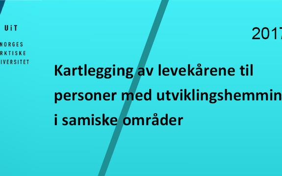 Ingressbilde til rapport om levekårene til personer med utviklingshemming i samiske områder