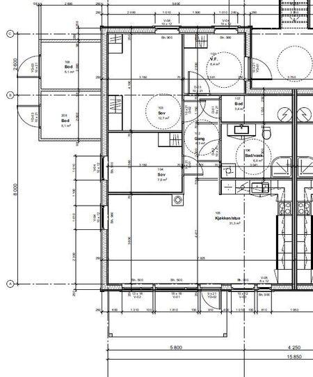 Tegning Trottvikveien 6 H0102