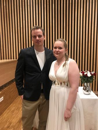Brudeparet Eerika Sander og William Jensen