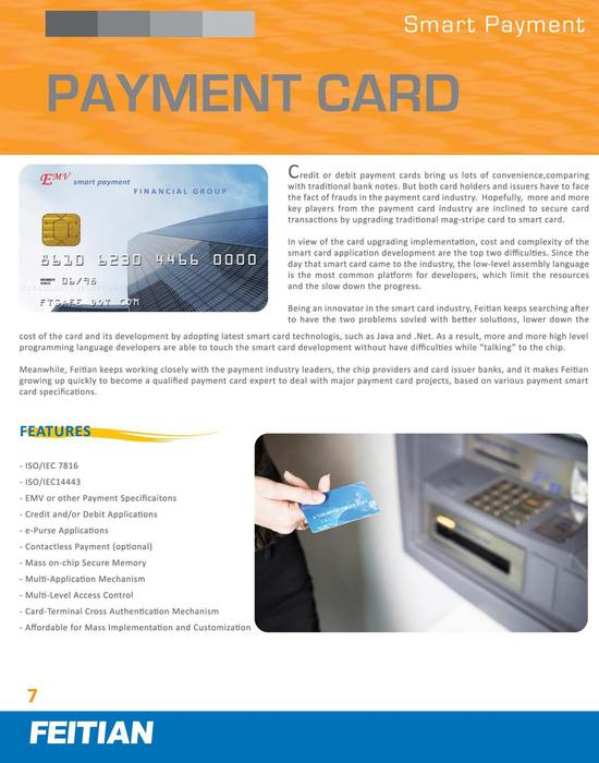 Payment Card Brochure