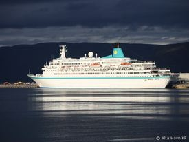 MS Albatros ved kai i Alta. Foto: Jens-Petter Mathisen