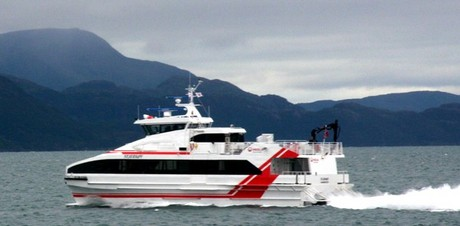 Hurtigbåten MS Stjernøy, Veolia Transport Nord, foto: Alta Havn KF