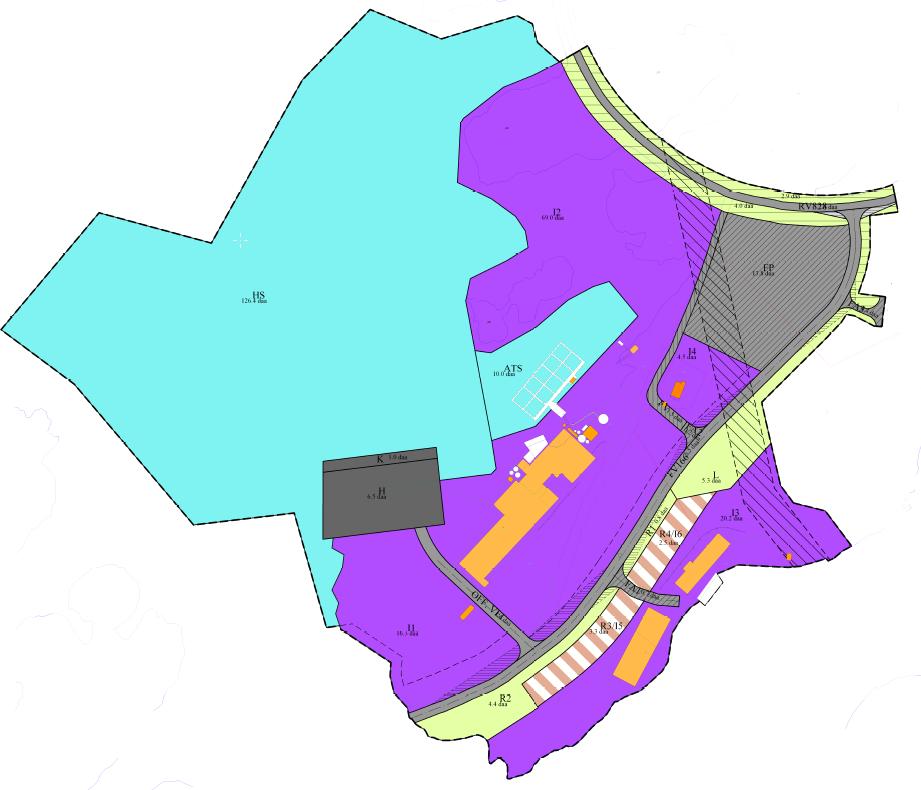 Plankart over næringsparken