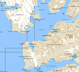 Kystinfo-kart over sårbare forekomster og naturtyper på Svalbard