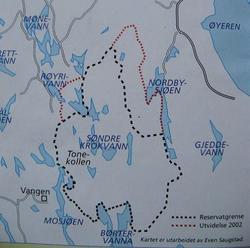 Kart utarbeidet av Even Saugstad