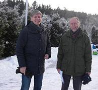 Byråd Elvestuen (V) og Sigmund Hågvar (ØV)