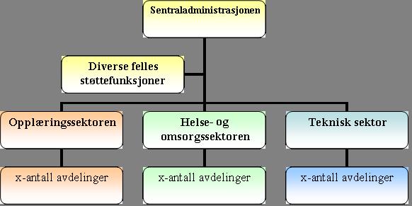 organisasjonsplan - administrativ organisering