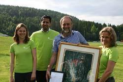 Johan Ellingsen mottok miljøprisen for nasjonalparkforslaget fra Akershus Venstre