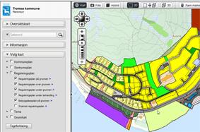 GISLINE PlanInnsyn er en selvbetjeningsløsning på nett, der alle plandata i kommunen presenteres samlet. Her kan både gjeldene og planer under arbeid presenteres sammen med: