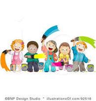 barn med  maling