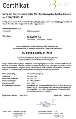Certifikat CE godkjenning
