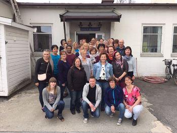 De ansatte ved Larueng bo- og servicesenter.