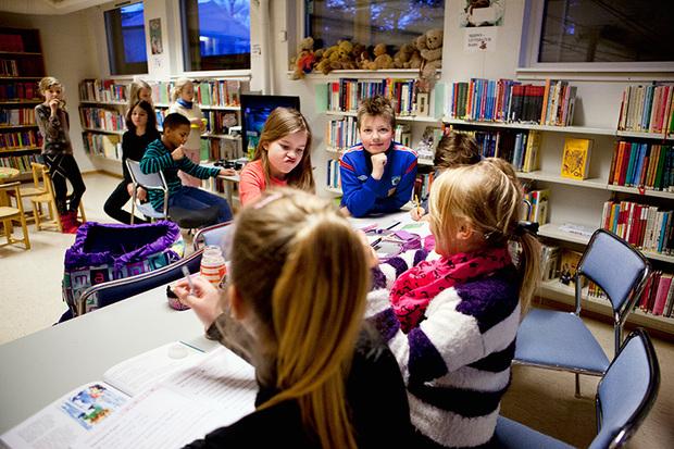 Trivelig på Tromsdalen bibliotek.