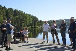 Silje H. Hansen. På befaringen deltok representanter for blant annet Miljøprosjekt Ljanselva, Østensjøvannets venner, Østmarkas Venner, Nøklevann ro- og padleklubb, NVE og kommunen.