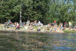 Østmarkas Venner. Badeplassene i Nøklevann, ved en av inngangene til Nøklevannskogen, har et yrende liv på varme sommerdager. Byrådet vil omgjøre hele skogen til «aktivitetssoner» for særinteresser.