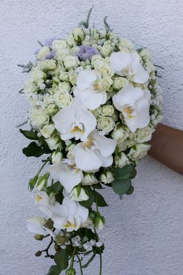 kvit brudebukett
