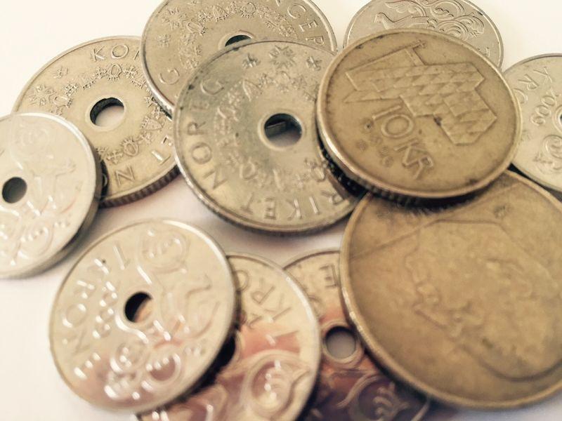 Penger - gebyrer - kronestykker
