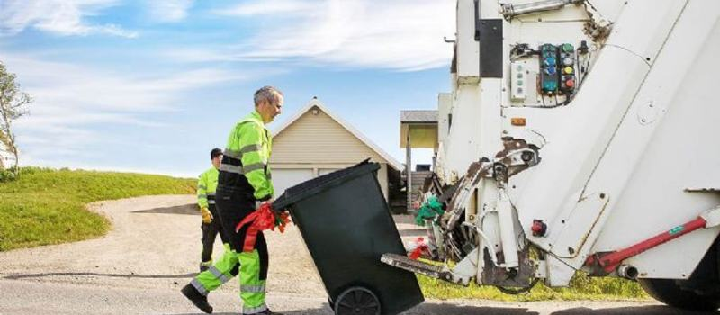 Renovasjon husholdningsavfall søppelbil