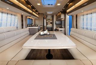 EXCLUSIV er toppmodellen til Dethleff på campingvogn-siden. Luksuriøs følelse gjennom hele vogna.