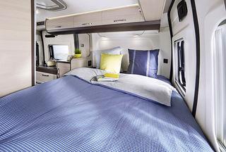 DU BØR kunne sove godt her. Dette bildet er fra lengst bak i en Vantana K55, den minste modellen.