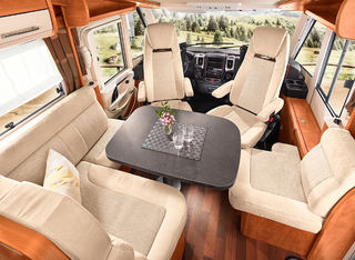 SITTEGRUPPA i den nye C-Tourer Sport 144, som er den tredje modellen i serien.