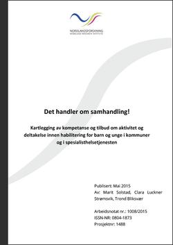 Forsiden til rapporten Det handler om samhandling