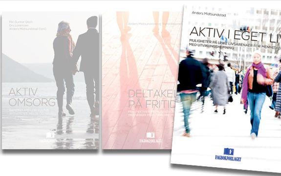Bilde av omslag i bokserien, fremhevet Aktiv i eget liv