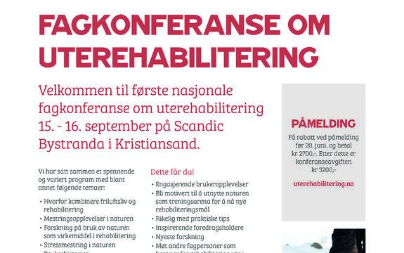 Bilde av invitasjon til konferanse om UTErehabilitering