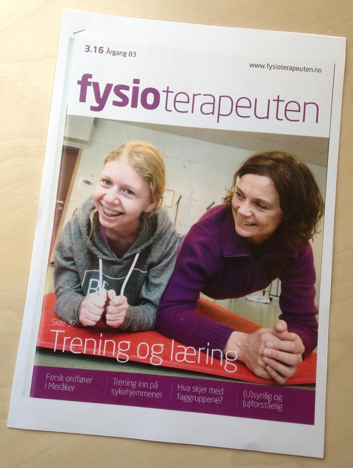 Bilde av omslaget til Fysioterapeuten nr. 3.16 om trening og læring