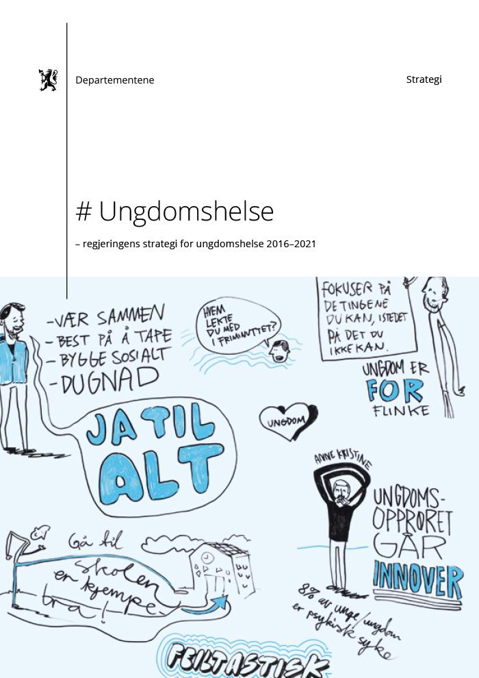 Bilde av omslaget til Regjeringens strategi for ungdomshelse