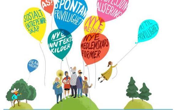 Illustrasjon som viser ulike former for frivillig arbeid