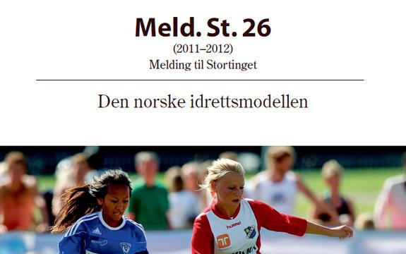 Ingressbilde til Stortingsmelding nr. 26 Den norske idrettsmodellen