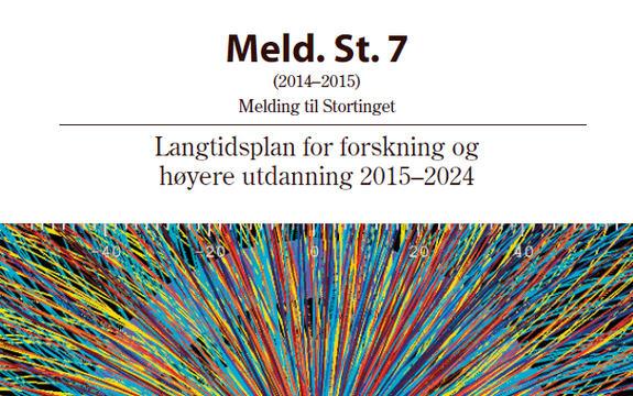 Ingressbilde til Stortingsmelding nr. 7 Langtidsplan for forskning og høyere utdanning 2015–2024
