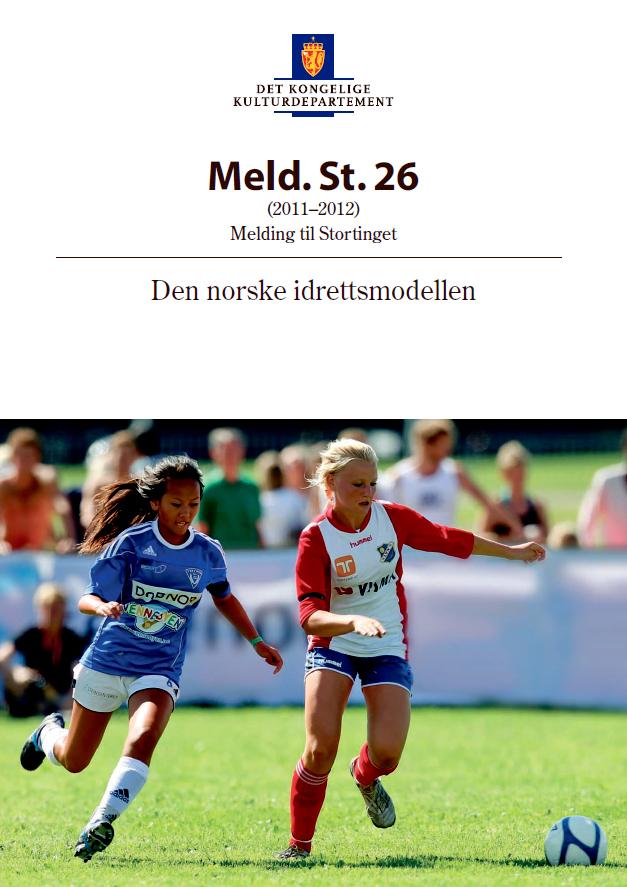 Omslagsbilde av Stortingsmelding nr. 26 Den norske idrettsmodellen