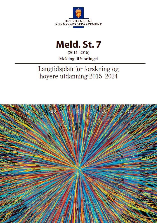 Omslagsbilde av Stortingsmelding nr. 7 Langtidsplan for forskning og høyere utdanning 2015–2024