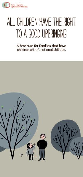 Omslagsbilde av brosjyren Alle barn har rett til en god oppvekst, engelsk versjon