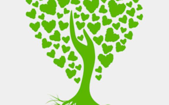 Logoen til Folkehelsekonferansen. Logoen forestiller et stilisert grønt tre med hjerteformet krone og sterke røtter